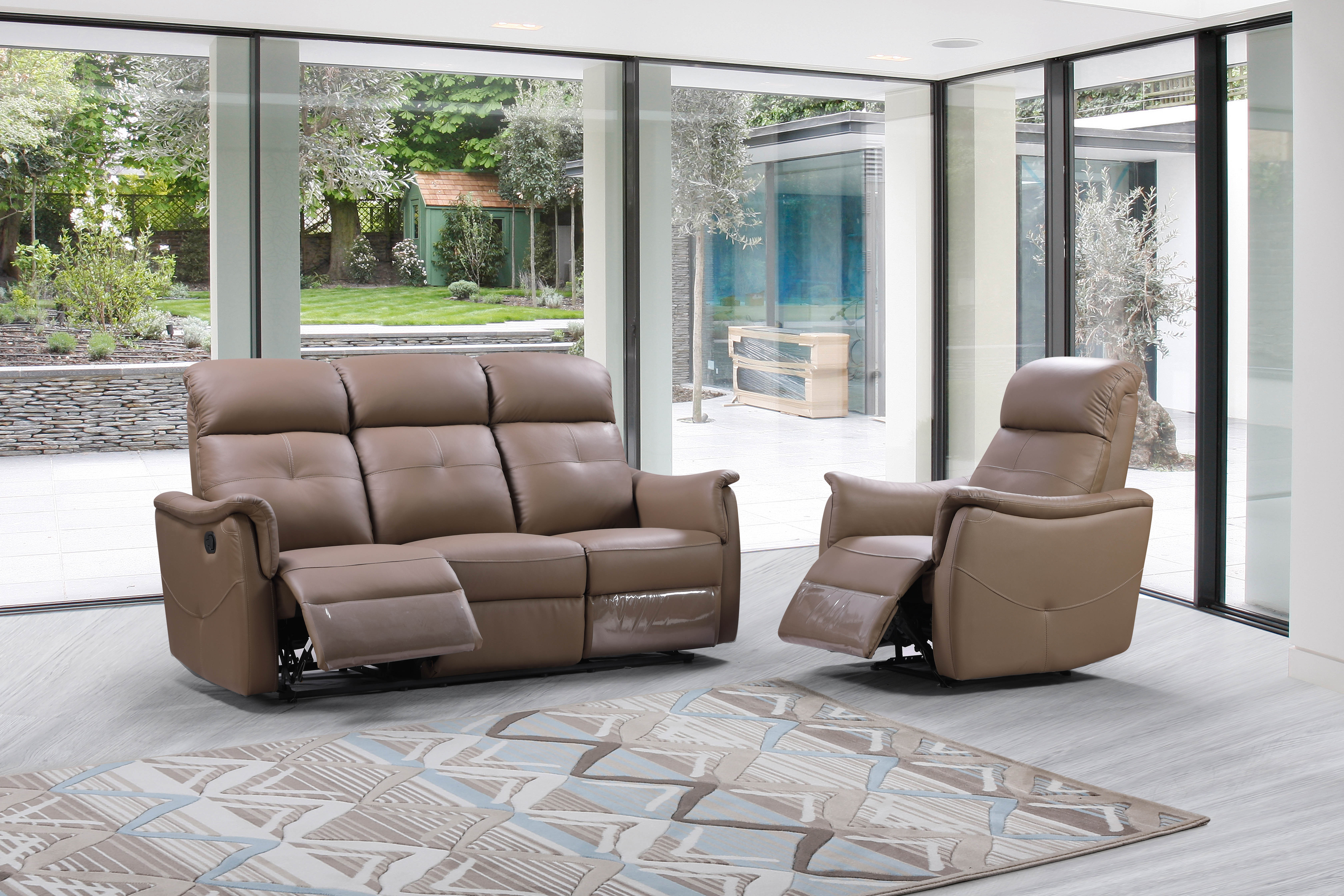 Italy Leather Recliner Sofa