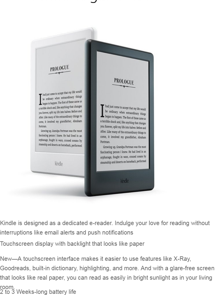 GeekBite Amazon Kindle Basic Black 2019 With Backlight + Kindle Smart Cover  + Screen Protector (Wifi/Special Offers)