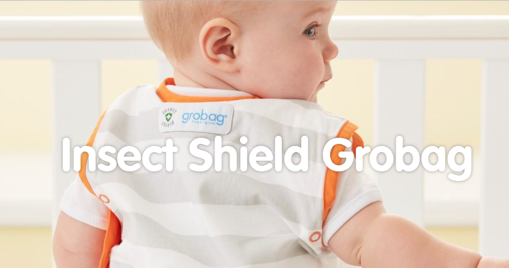 Grobag Insect Shield 0 to 6 Months Mint Stripe 0.5 Tog