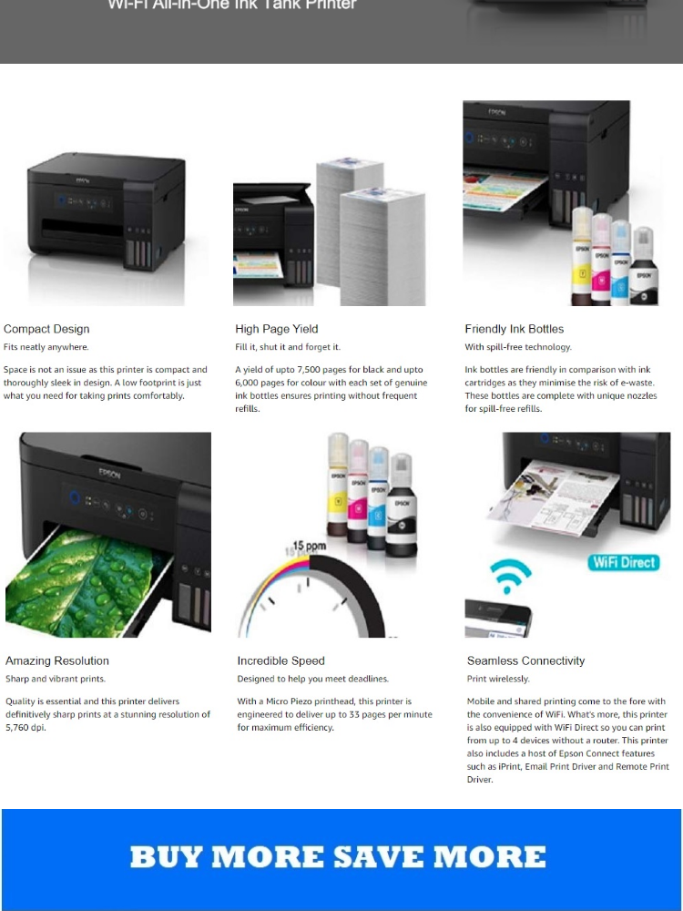 [Singapore Warranty] Epson L4150 Business Wi-Fi All-in-One Ink Tank Printer  Epson 4150 L 4150