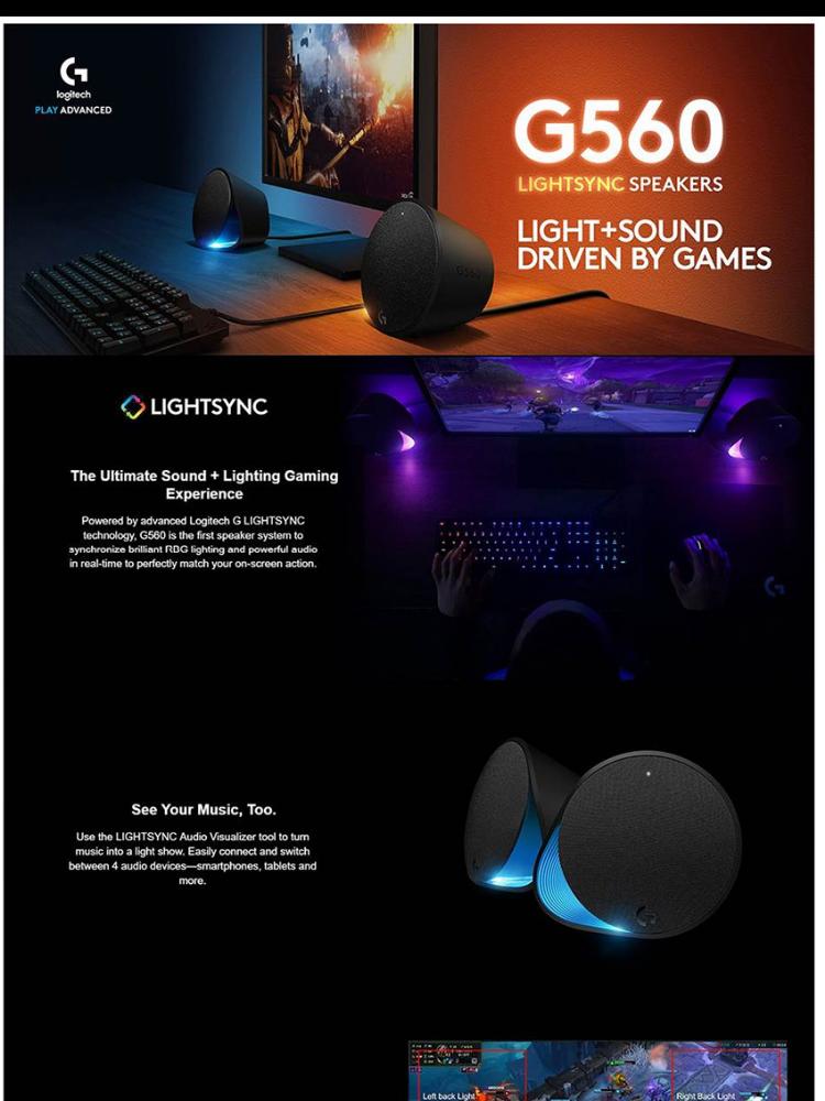 Free 128GB Ultra Flair Thumb Drive*] Logitech G560 LightSync
