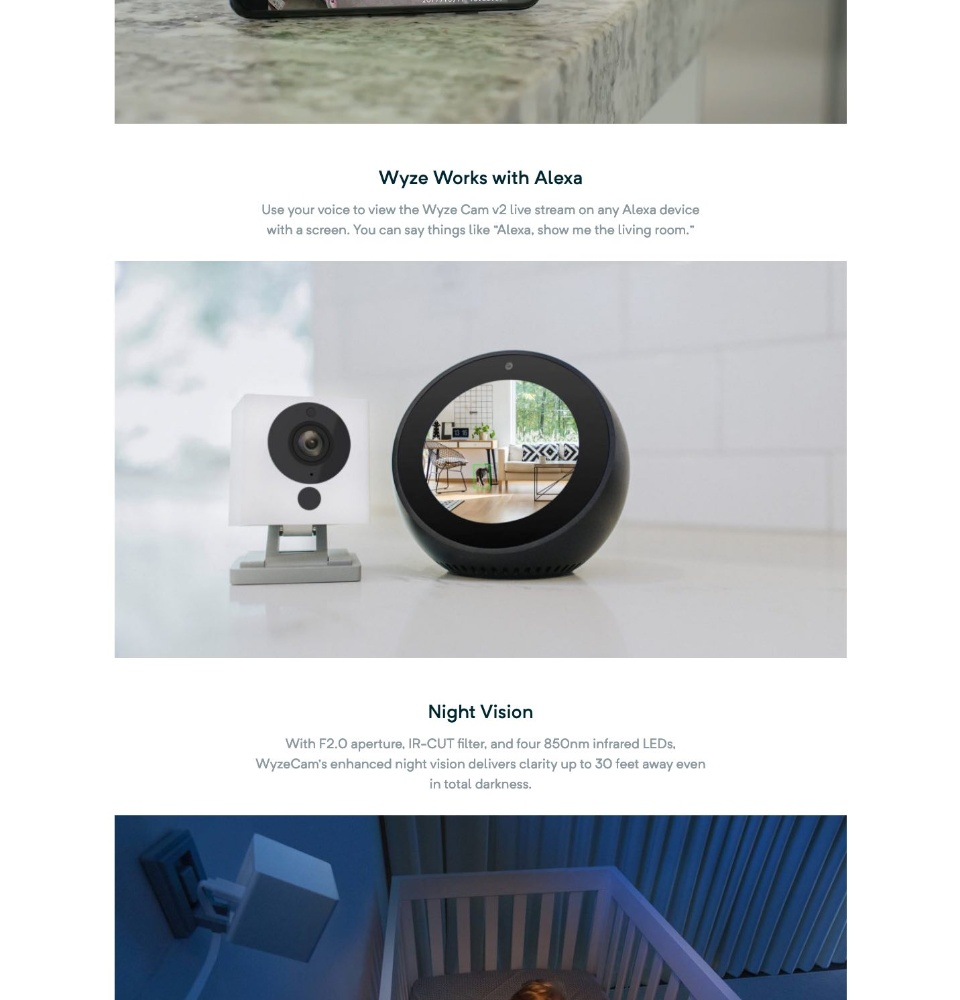 Wyze Cam 1080p Hd Indoor Wireless Smart Home Camera With Night Vision 2 Way Audio Works With Alexa Lazada Singapore