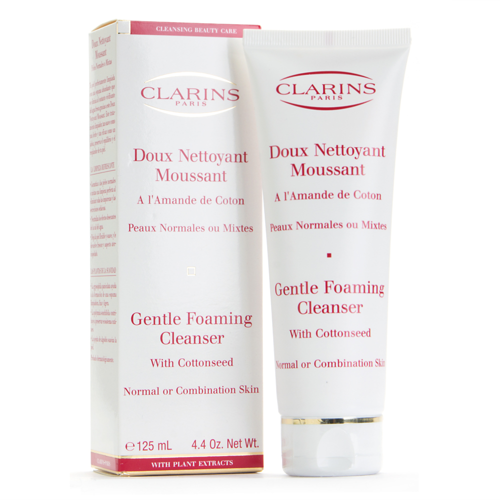 Clarins Gentle Foaming Cleanser with Cottonseed Normal/Combination