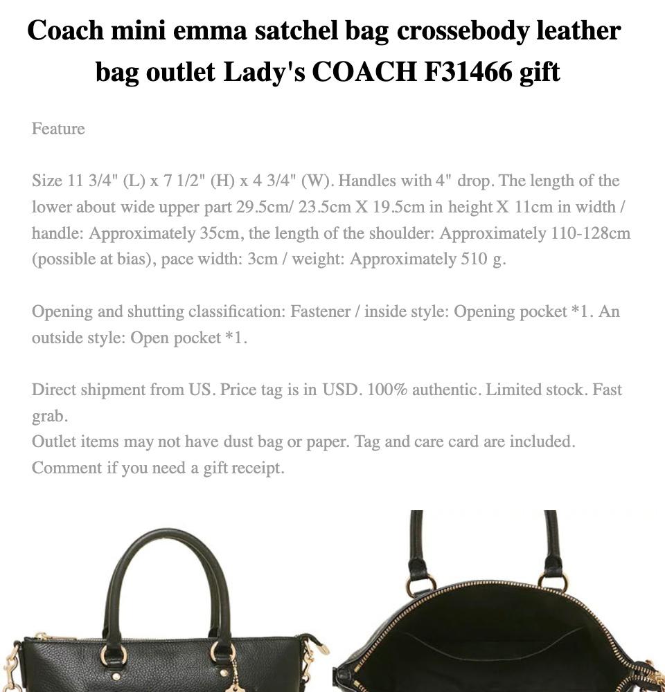 e9f6f071c0ad Coach kelsey satchel pebble leather 2 way crossbody shoulder bag outlet  handbag F27596 F57563 F28993 F26917 F31466 black white gift idea   Lazada  Singapore