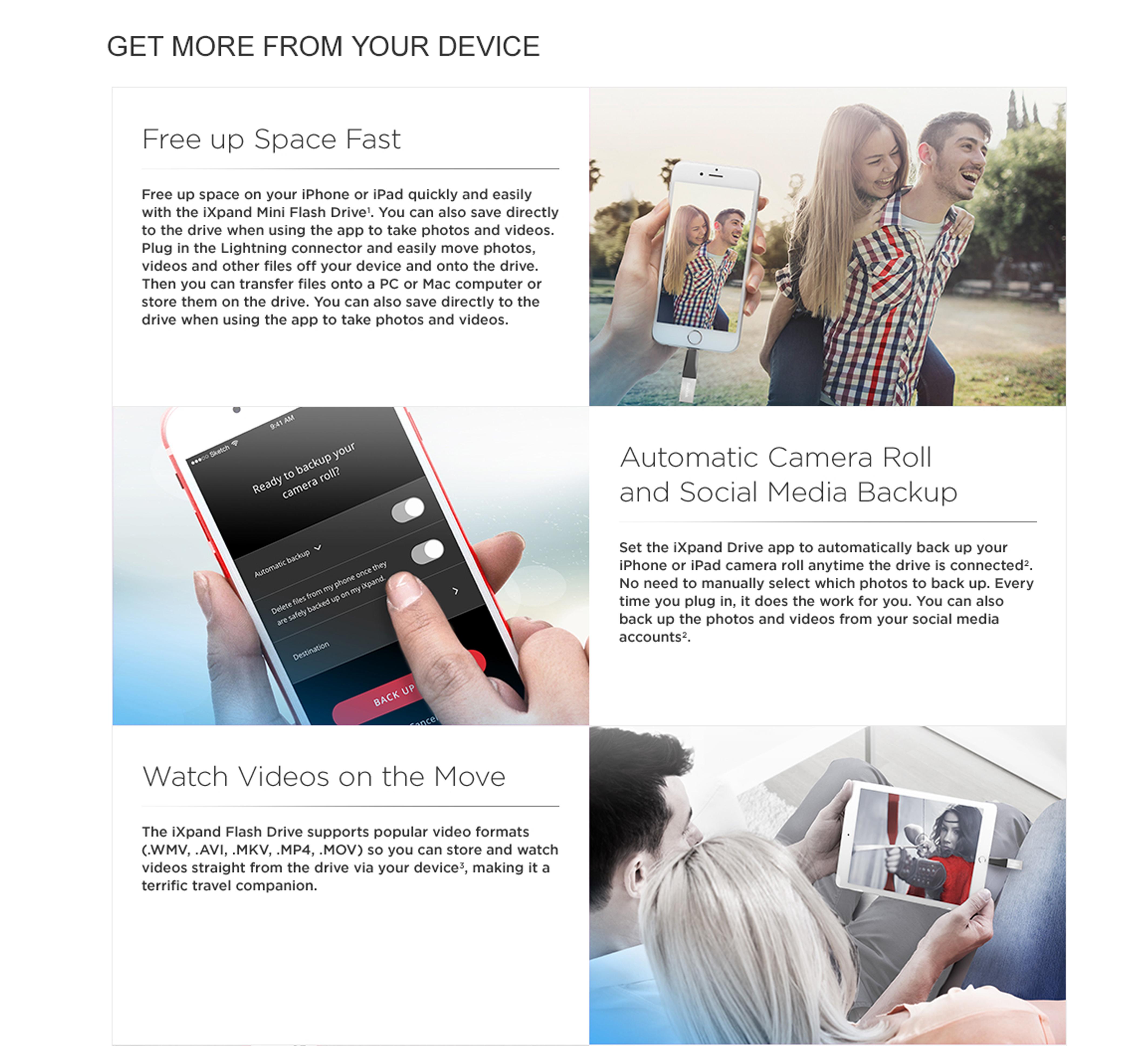 Sandisk Ixpand Mini 32gb Flash Drive For Iphone Ipad Daftar Harga Sdix40n 128gb Specifications Of Usb 30