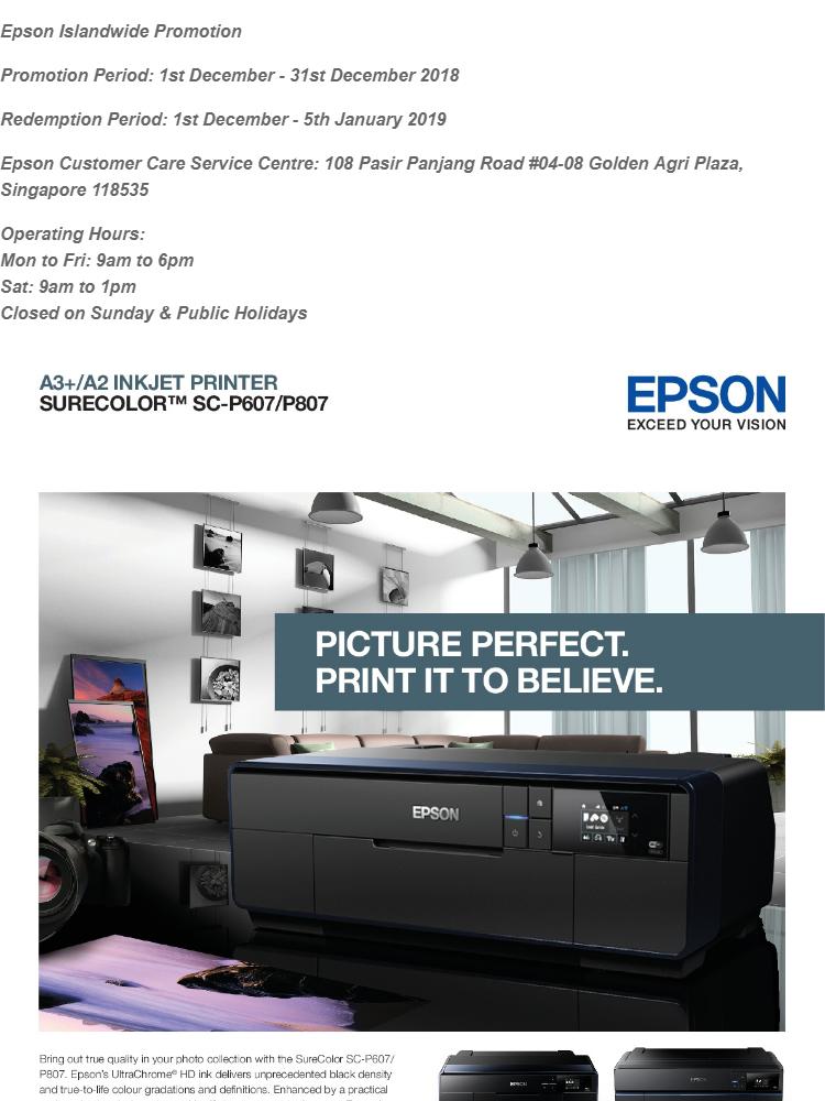 [Singapore Warranty] Epson SureColor SC-P807 Business Photo Printer SC P807  SC P807