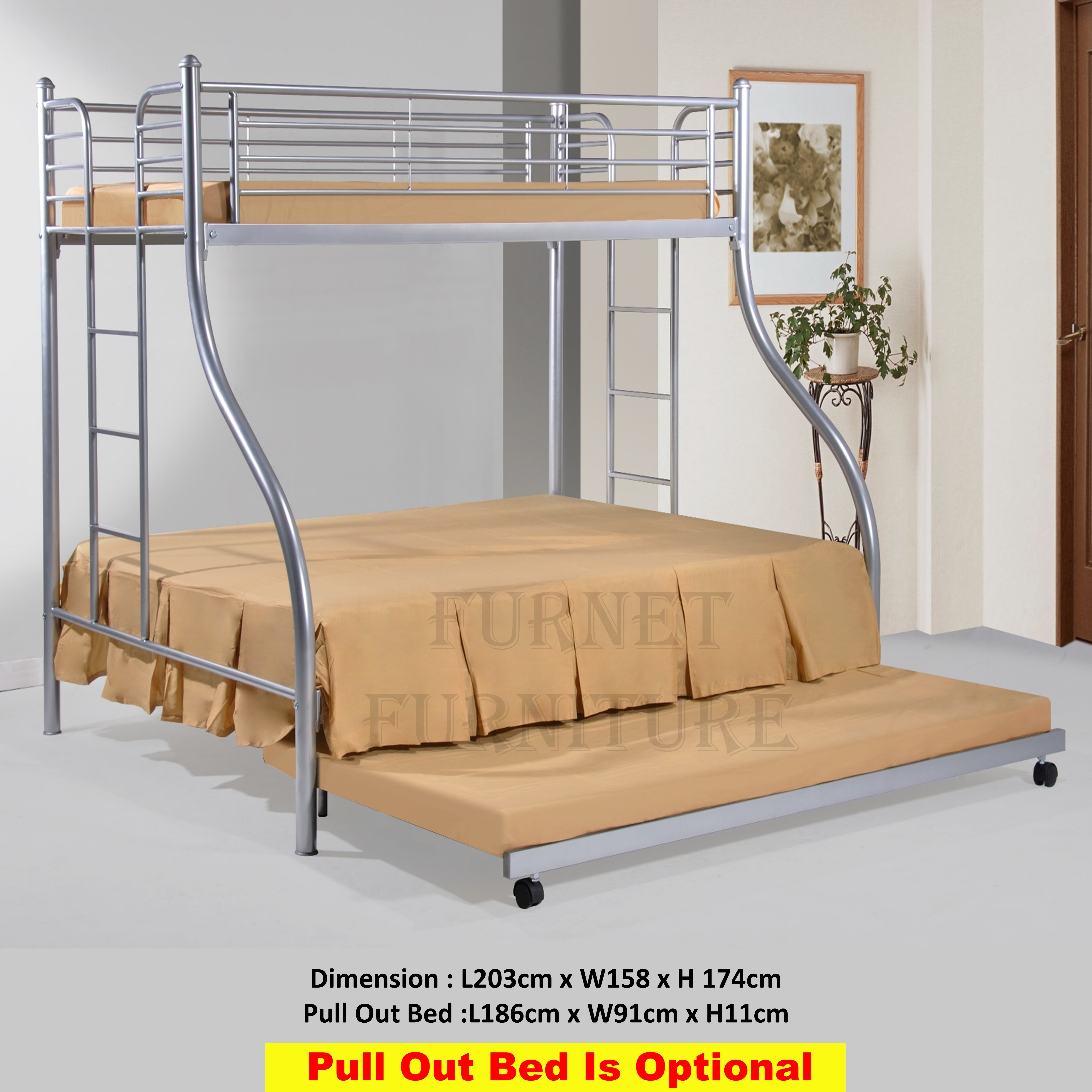 Picture of: Gigi Queen Single 2 In 1 Bunk Bed Double Decker Bed Lazada Singapore