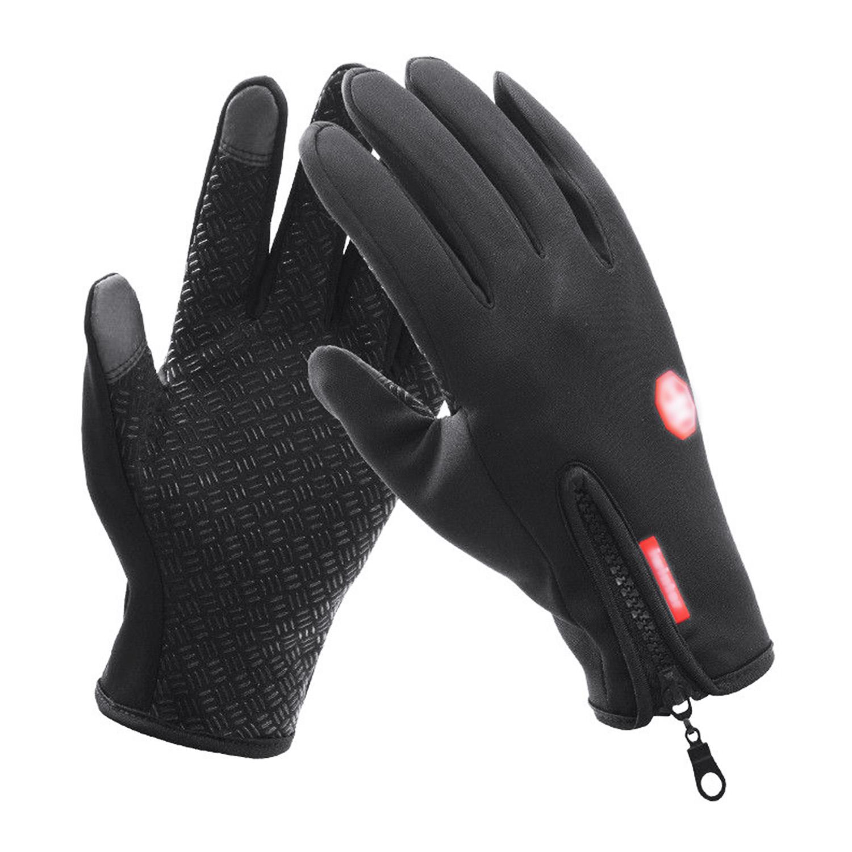 Winter Men Women Touch Screen Full Finger Leather Outdoor Sport Driving Gloves