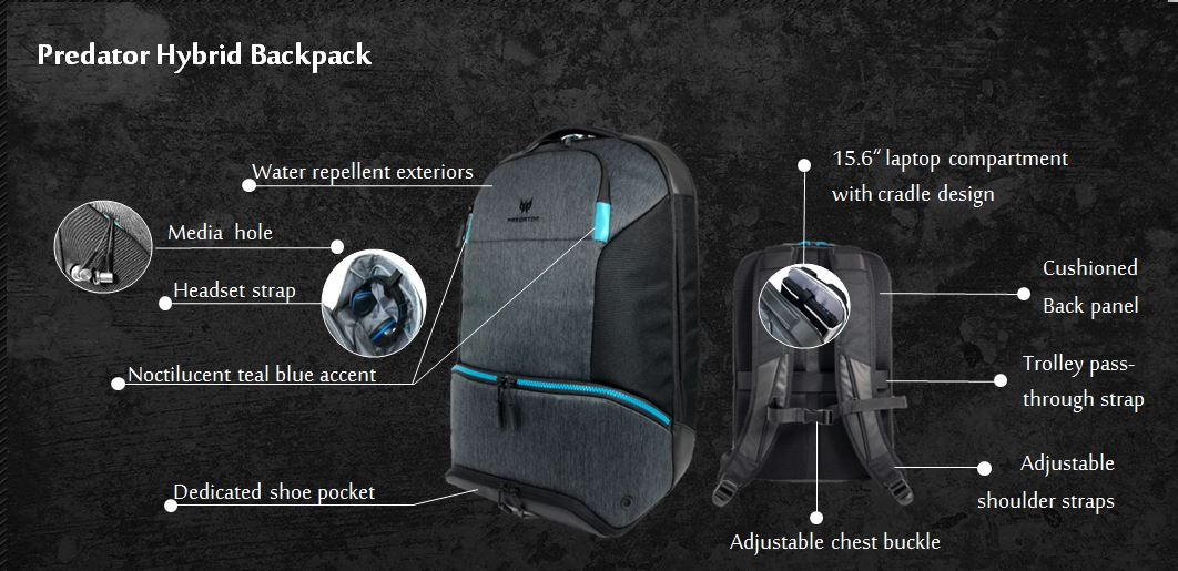 159a262ecc4 Predator Hybrid Backpack For Up to 15.6-Inch Laptop
