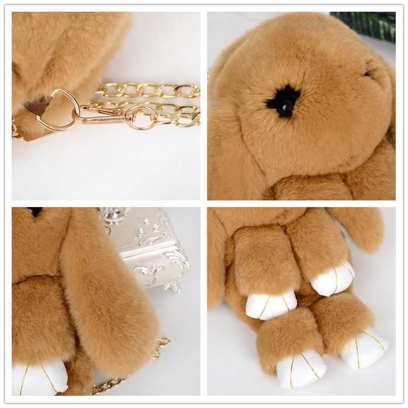 Plush Toys Animal Fur Doll Plush Stuffed For Kid And Adult Bag And Key Chain New