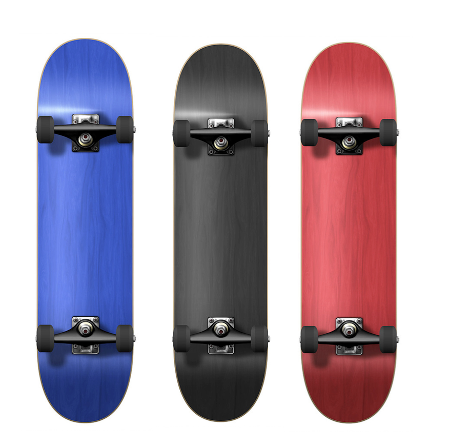 Yocaher Micro Cruiser Blank Deck Stained Red