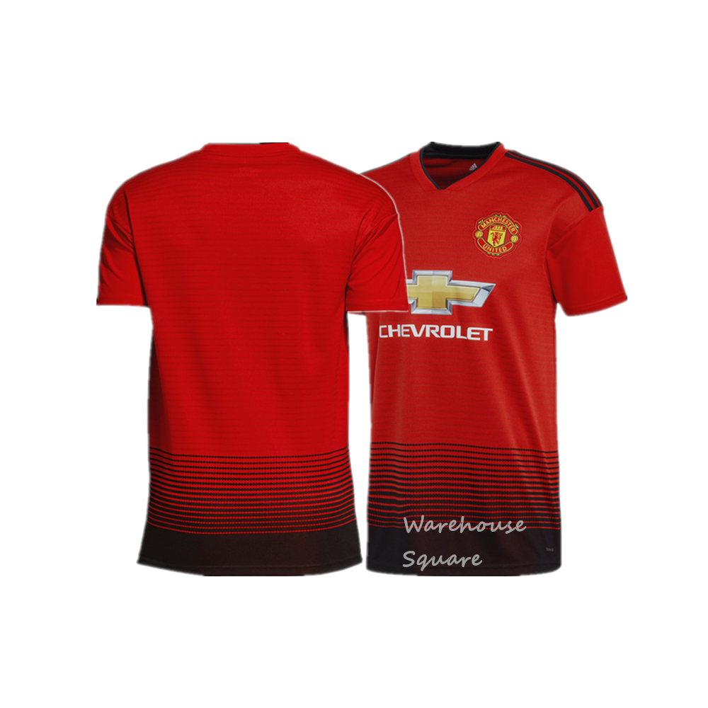 best cheap 940b8 f5394 New Season 2018/2019 Top Quality Soccer Jersey Manchester United Home/Away  Football Jersey for Men