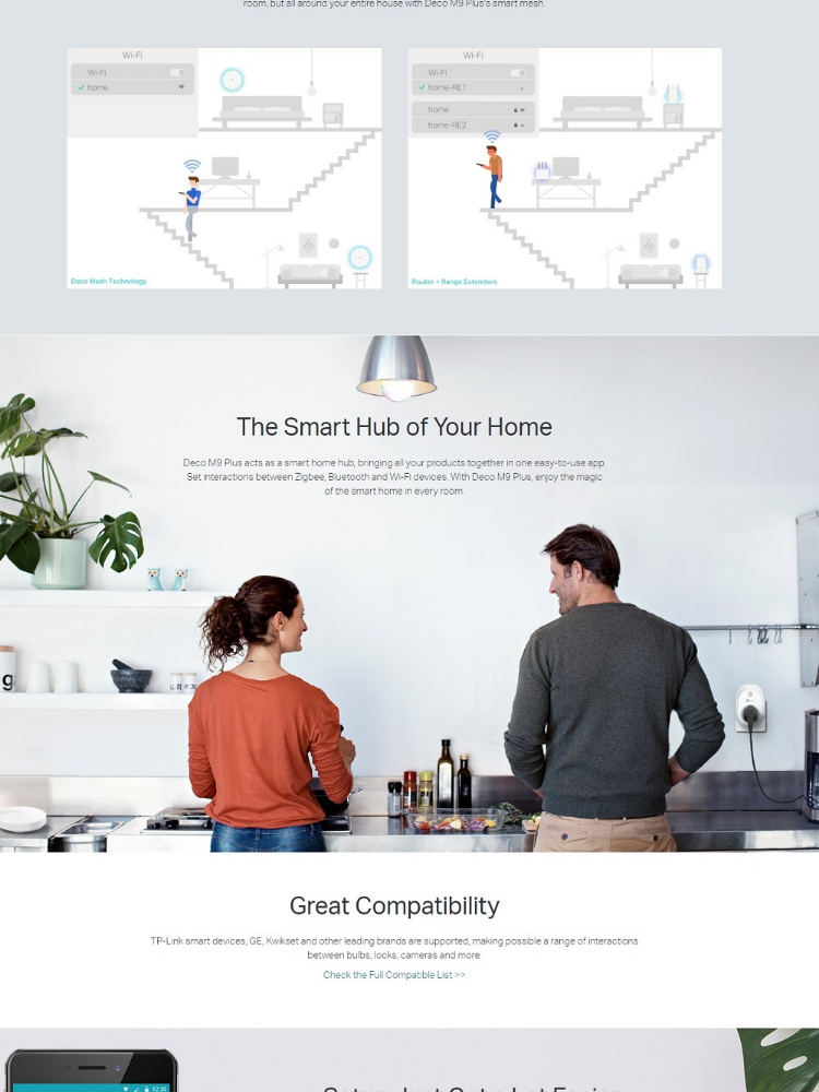 TP-Link Deco M9 Plus AC2200 Smart Home Mesh Wi-Fi System 2-Pack
