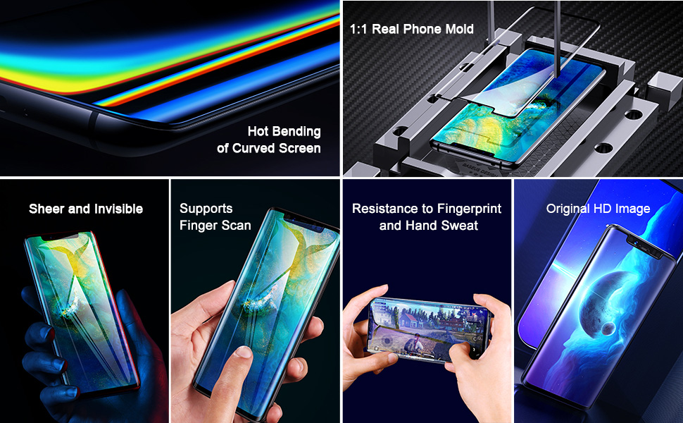 Baseus Huawei Mate 20 Pro Soft Screen Protector Full Cover Coverage 0 15mm  2 Pcs Set Excellent Sensitivity Scratch Resistant HD Clear Clarity