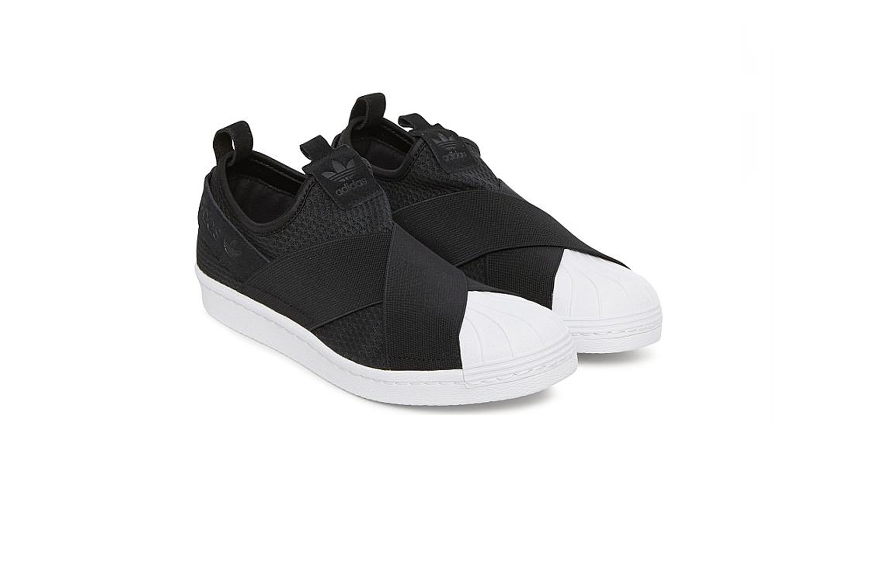 new styles 380f7 3e0a9 adidas Originals Superstar Slip-On Shoes Womens B37193 Core Black / Core  Black / FTWR White