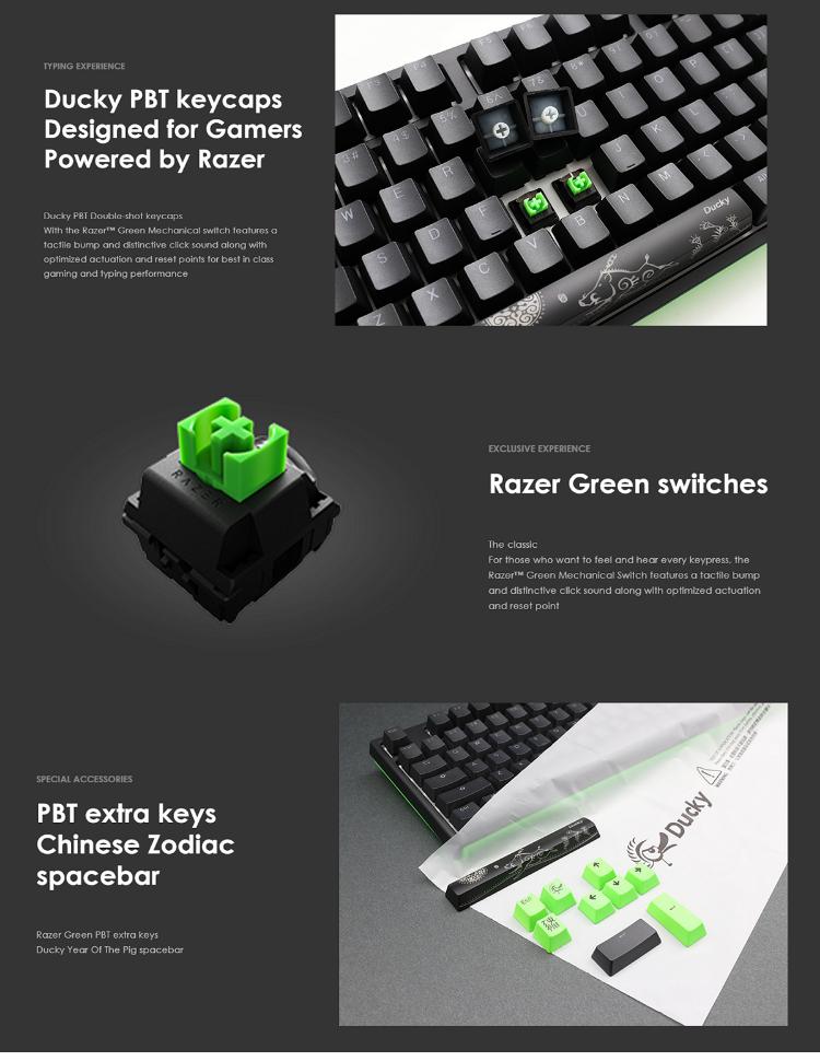 Ducky X Razer Limited Edition Gaming Mechanical Keyboard