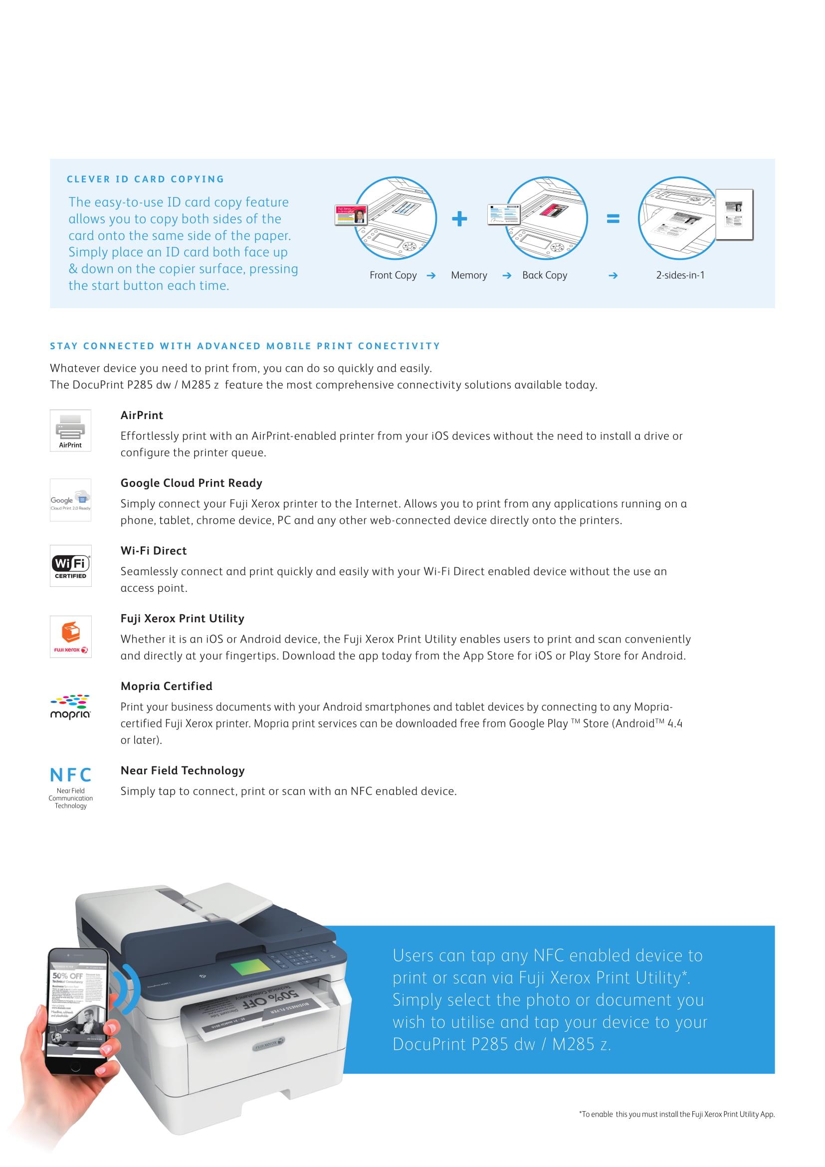 Fuji Xerox DocuPrint M285z | A4 Monochrome Multifunction