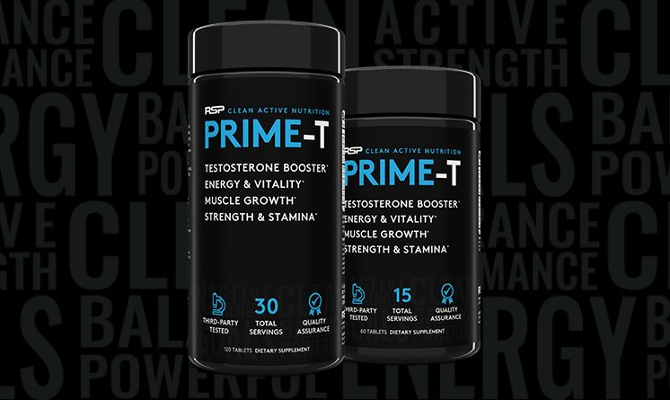 RSP Nutrition Prime T | Increase Free Testosterone | Lean Muscle Growth, Strength, Stamina & Healthy Sleep | 120 tablets