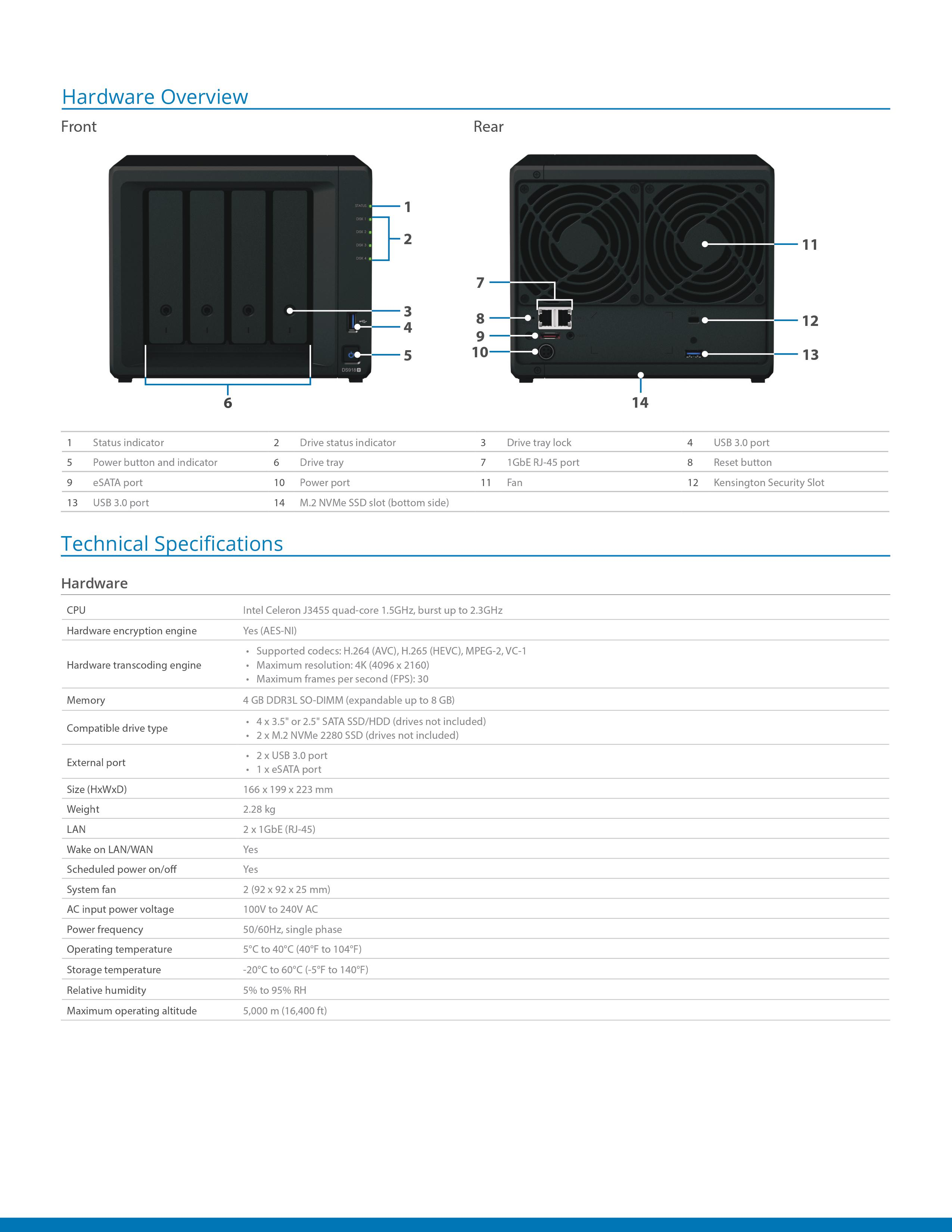 Synology DS918+ Scalable 4 Bay Nas