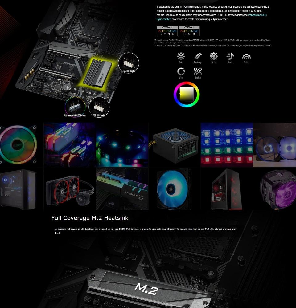 ASRock X470 Master SLI AMD Motherboard [Free Polychrome RGB LED Strip]