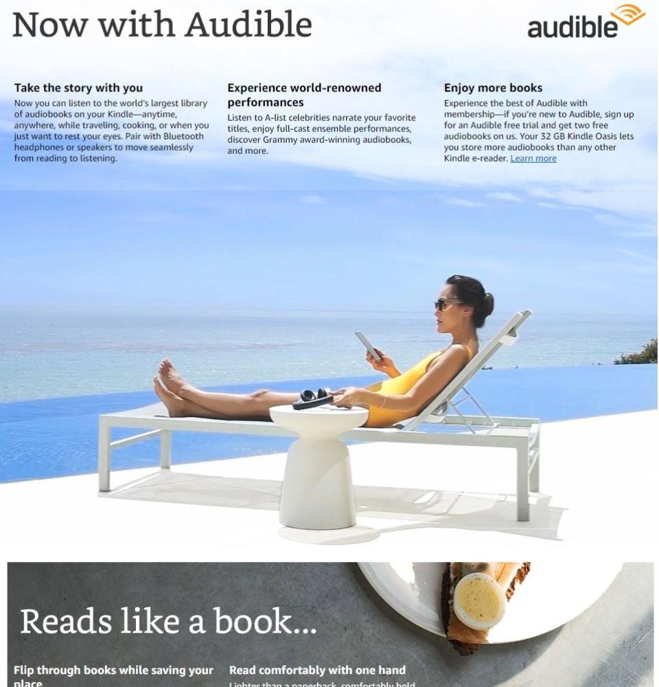 Kindle Oasis E-reader Waterproof WiFi