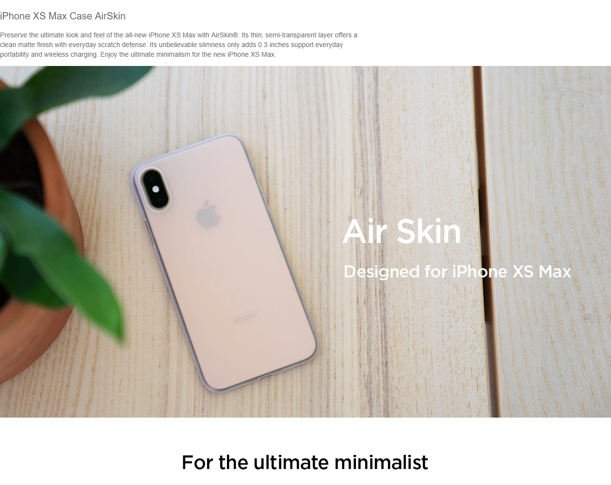 timeless design 71337 c6fc3 Spigen iPhone XS Max 6.5 Air Skin Case (Authentic)