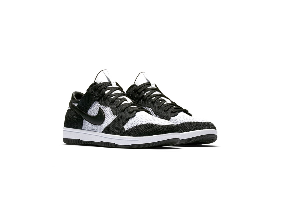 cheap for discount af8bd 2ef78 Product details of Nike Dunk Low Flyknit 917746-100 White/Wolf-Grey-Black