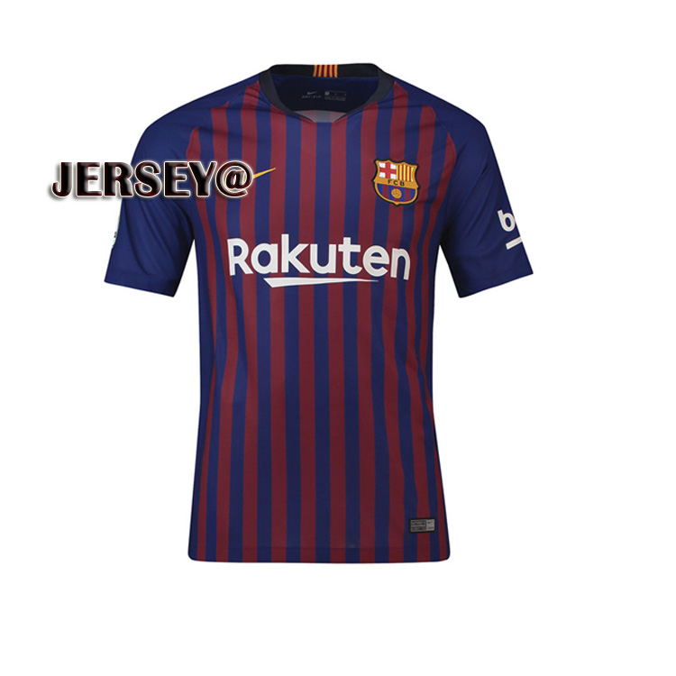 new style 6e2d4 631cf 2019 New Season 2018/2019 Top Quality Soccer Jersey Barcelona Team FCB  Messi Jersey Home And Away Football Jersey for Men