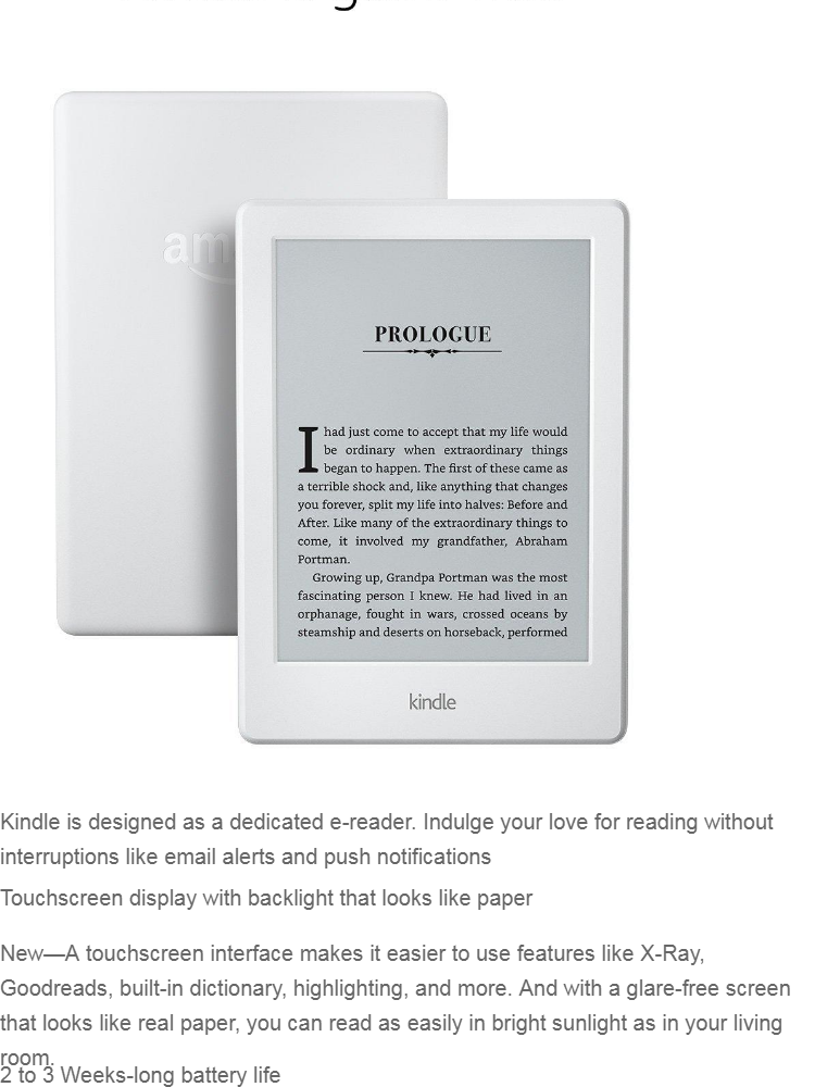 Cheapest GeekBite Amazon Kindle Basic White 2019 With Backlight + Kindle  Smart Cover + Screen Protector (Wifi/Special Offers)