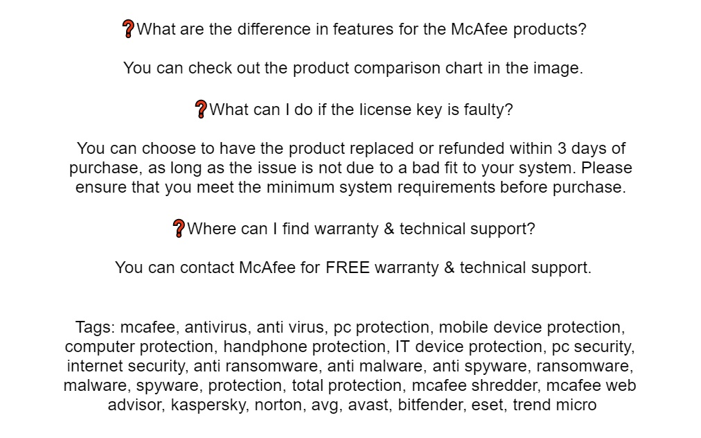 McAfee Total Protection 2019 - 1 Device 3 Years Antivirus Protection,  Password Manager, Parental Control, File Encryption For Computer, Laptop,  MAC,