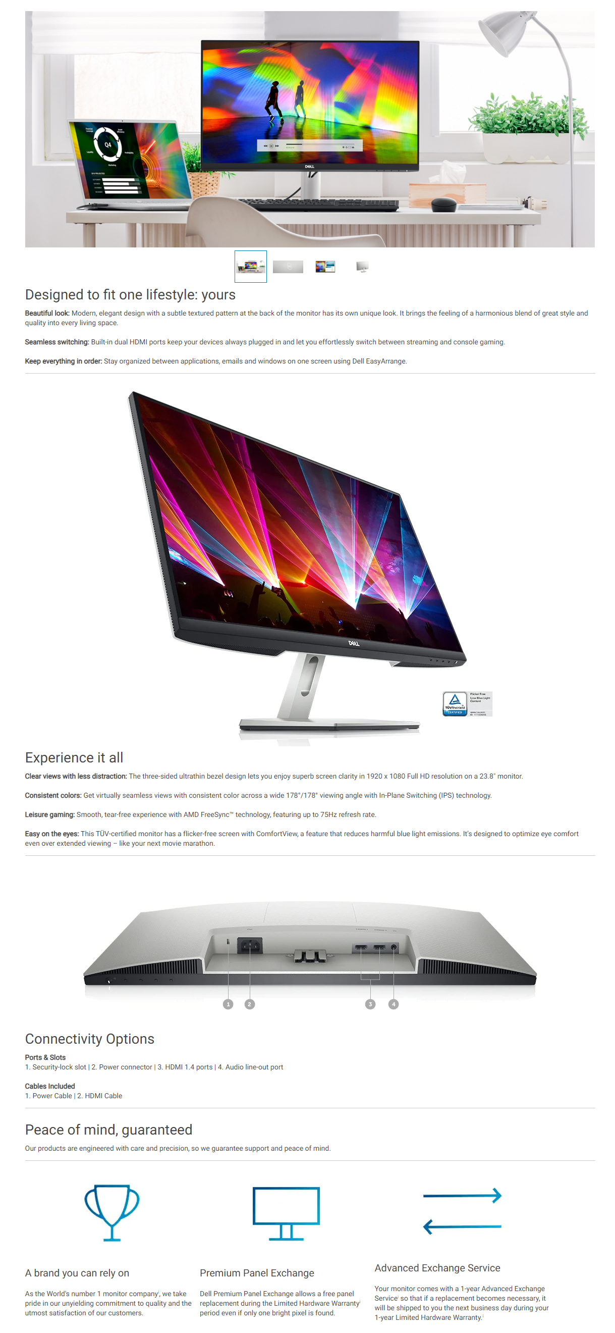 """Dell 24 Monitor – S2421HN 