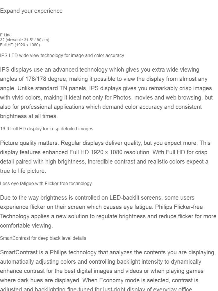 PHILIPS 323E7QDAA 31 5 IPS PHI (323E7QDAA) Led Monitor