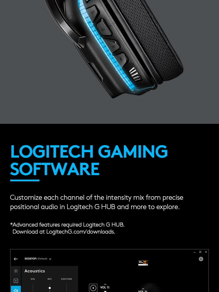 Logitech G633S 7 1 Surround Sound Lightsync Gaming Headset - PC, PS4, Xbox  One, Nintendo Switch