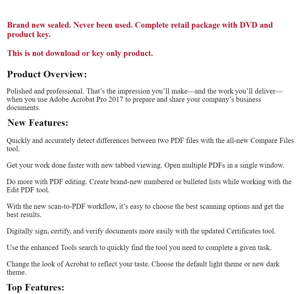 Adobe Acrobat Pro 2017 Windows Full pack
