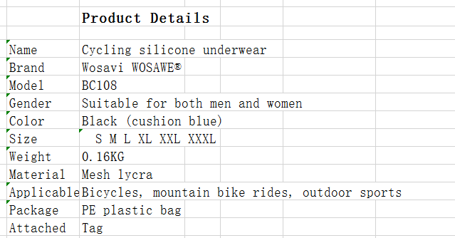e45e60a5fc395e Product details of Cycling Riding Underwear Summer Riding Shorts Mountain Bike  Panties Spinning Cycling Silicone Cushion