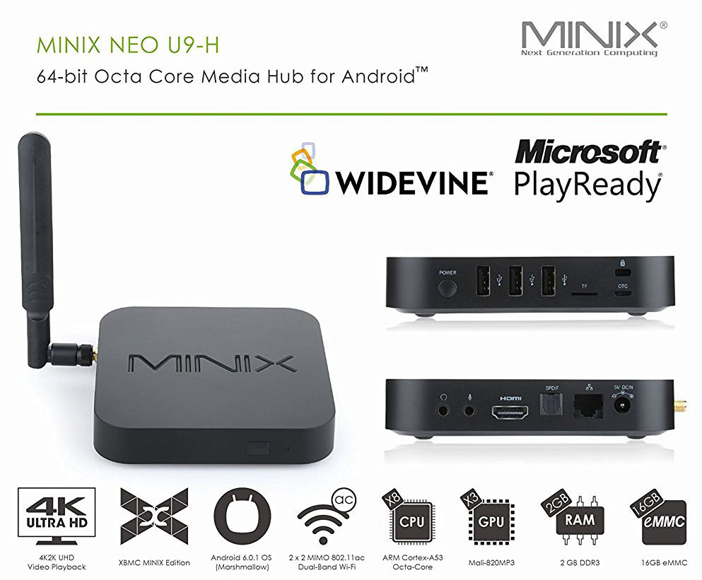 MINIX Neo U9H Android Box Best Voted 4K Streaming Android TV Box 2018  Exclusive Sole Distributor U9-H With 1 Year 1-to-1 Exchange Warranty By  Amconics U9 | Lazada Singapore