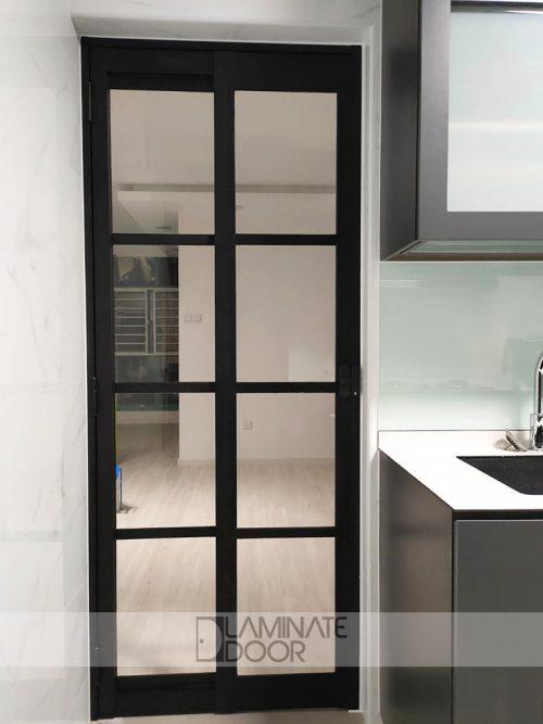 Kitchen Slide And Swing Glass Door Sd 7016 Black Frame Lazada Singapore