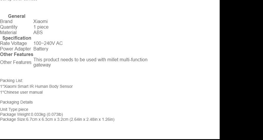 Original Xiaomi Mi Smart Temperature / Humidity Sensor - White
