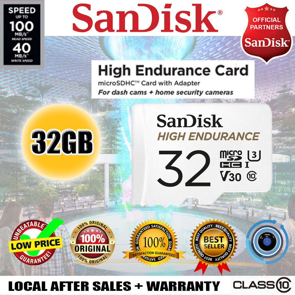 SanDisk High Endurance 32GB microSD card with Adapter