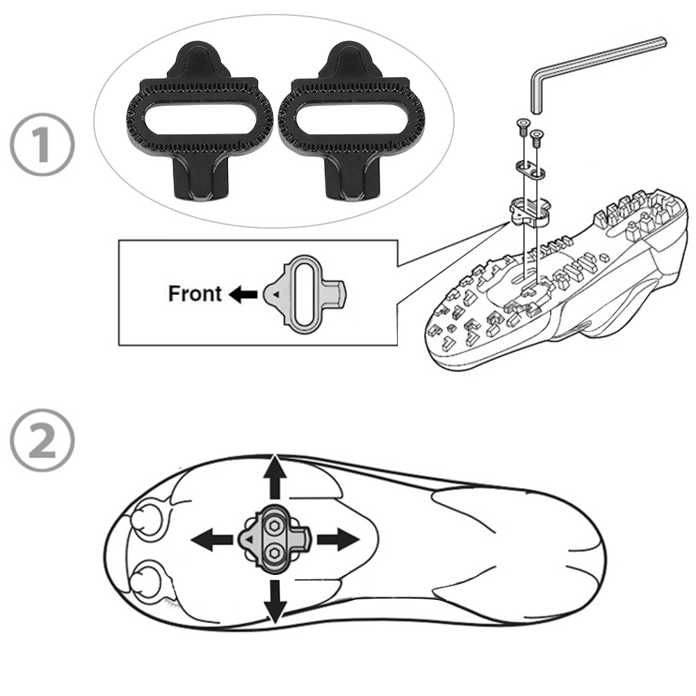 Bike Mountain Bicycle Shoes Cleats Pedal Locking Plate Accessory for SPD