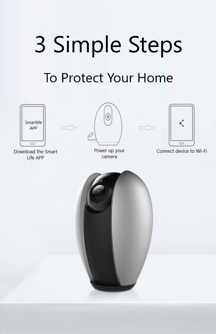 Tuya Smartlife Q3S Home Security Wireless CCTV IP Camera 1080P 360 Degree  by Mojo Enterprise
