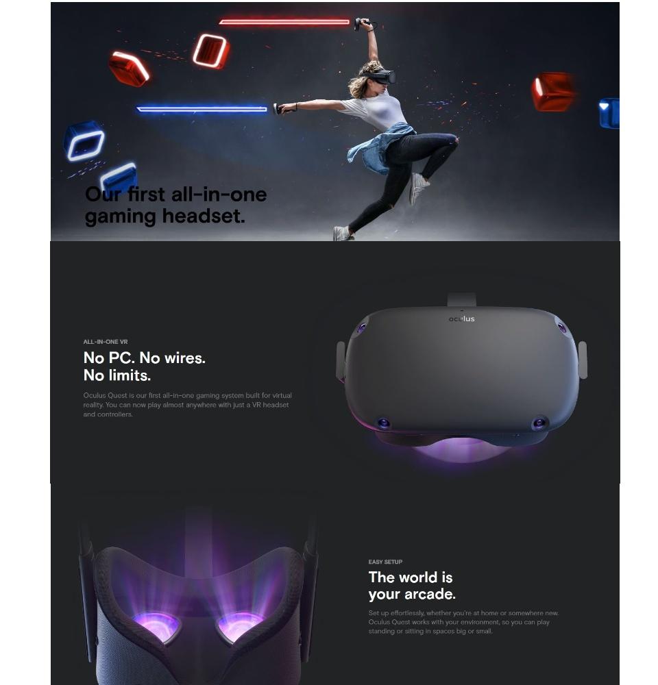 Oculus Quest 128 GB VR Standalone Headset