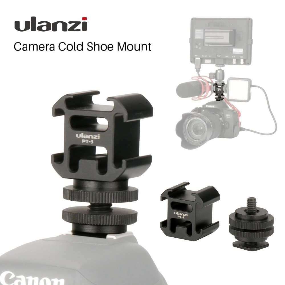 - 4 Packs Color: Black Screw Black Metal Cold Shoe Flash Stand Adapter with 1//4-inch -20 Tripod Screw