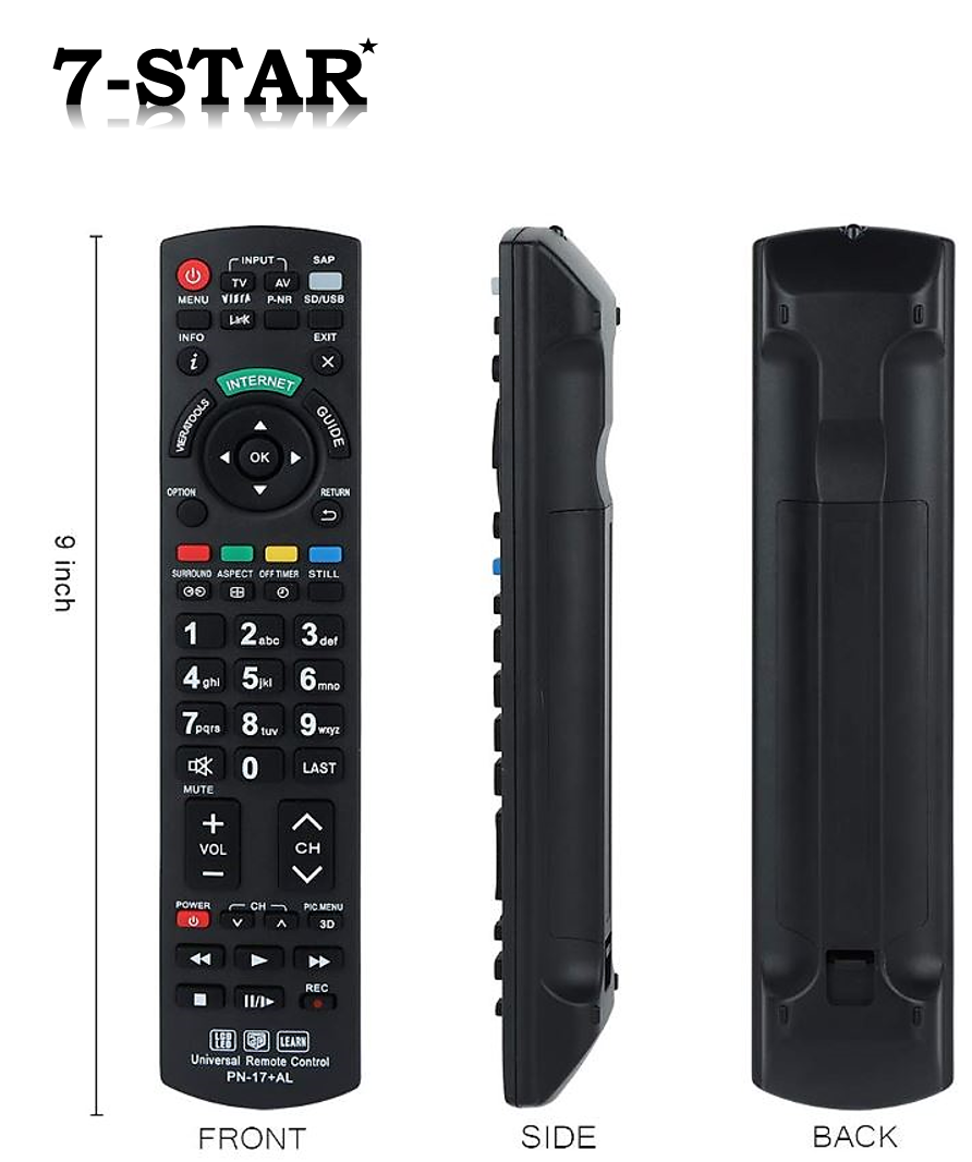 Specifications of Universal Panasonic TV Remote Control RM17PN (PN-17+AL) Compatible
