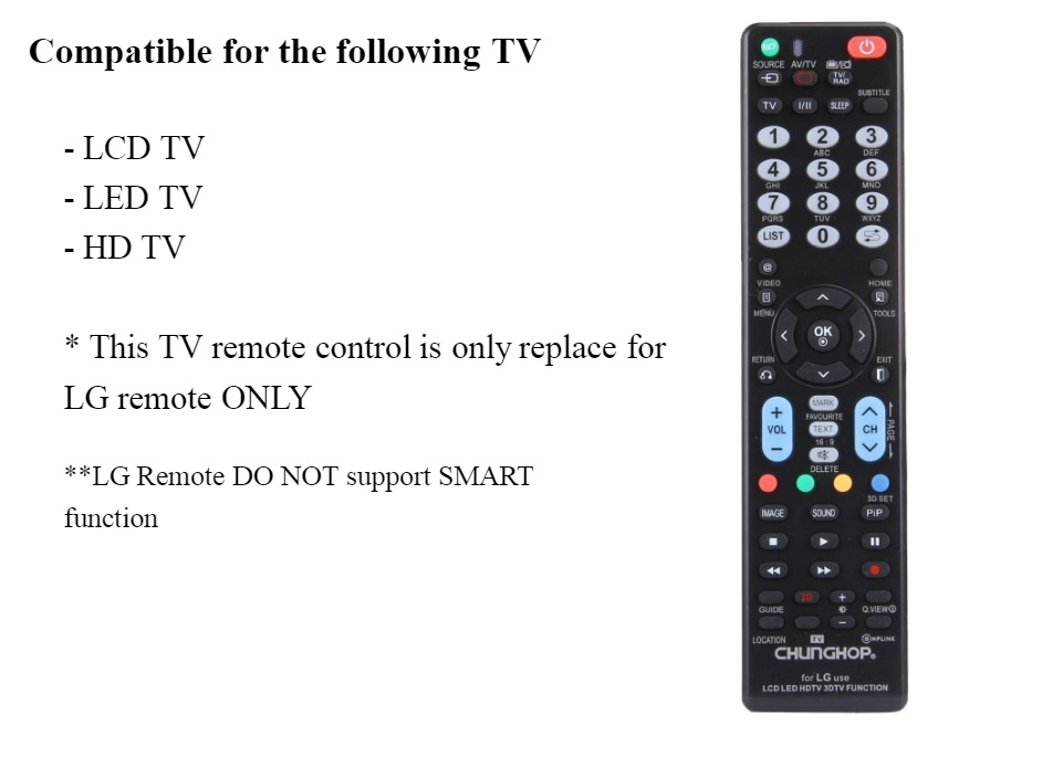 LG TV Remote Control Universal LG Remote Control Controller Replacement for  LG